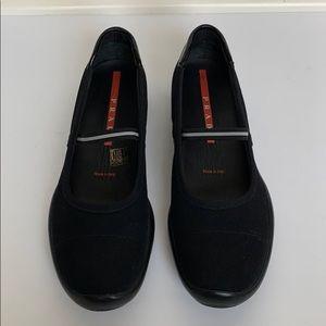 PRADA Black Athletic Loafers